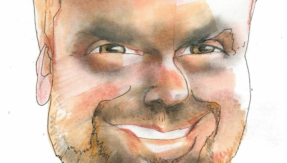 Artikkelforfatter Kjartan Brügger Bjånesøy. Tegning: Finn Graff