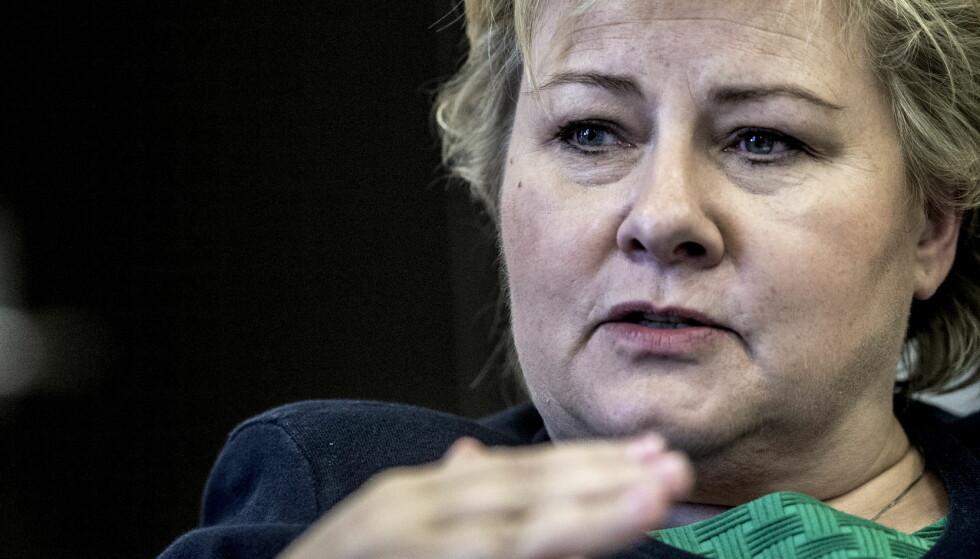 KRITISK: Statsminister Erna Solberg. Foto: Thomas Rasmus Skaug / Dagbladet