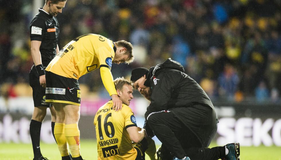 SMERTE: Lillestrøm og Håkon Skogseid fikk et hardt slag i trynet hjemme mot Start. Foto: Jon Olav Nesvold / NTB scanpix