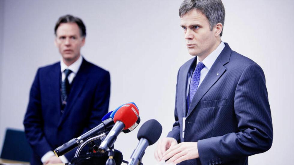 GODE NYHETER: Statoil-sjef Helge Lund holdt i morges pressekonferanse om den siste utviklingen i gisseldramaet i Algerie i Statoils hovedkvarter på Forus i Stavanger. Foto: Christian Roth Christensen / Dagbladet