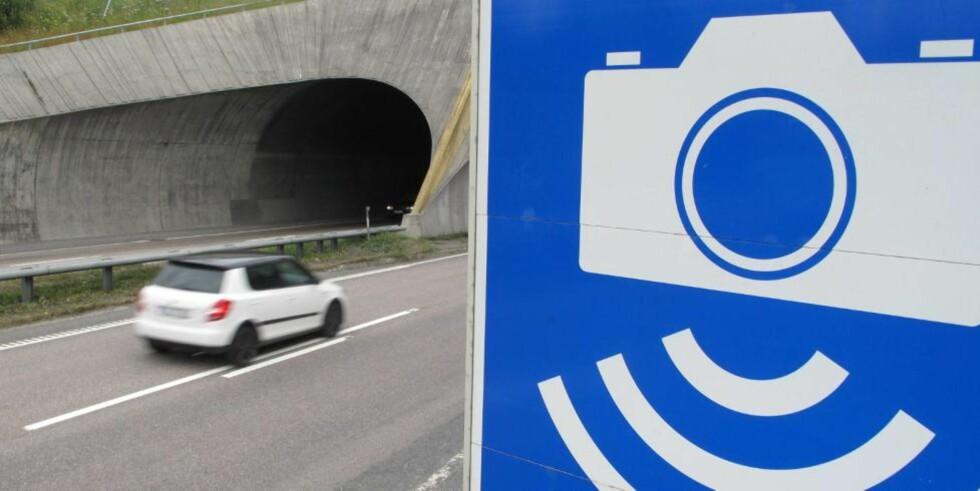GOTCHA: Fotoboksen i Rælingstunnelen er fortsatt den som tar flest råkjørere, men det finnes andre kameraer som er mer effektive. FOTO: Martin Jansen