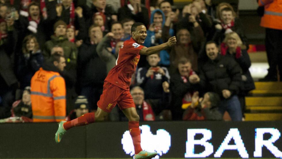 GJENNOMBRUDD: Raheem Sterling har spilt seg inn både hos Liverpool og det engelske landslaget denne sesongen. Han sier seg ikke skyldig i overfall på en bekjent. Foto: AP / Jon Super / NTB SCANPIX