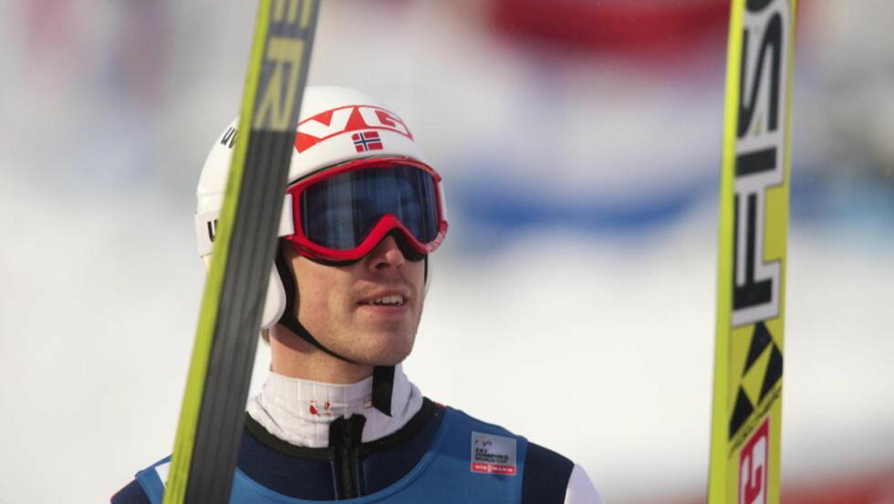 PALLEN GLAPP: Andreas Stjernen havnet nok en gang rett utenfor pallen. Foto: Terje Bendiksby / NTB scanpix