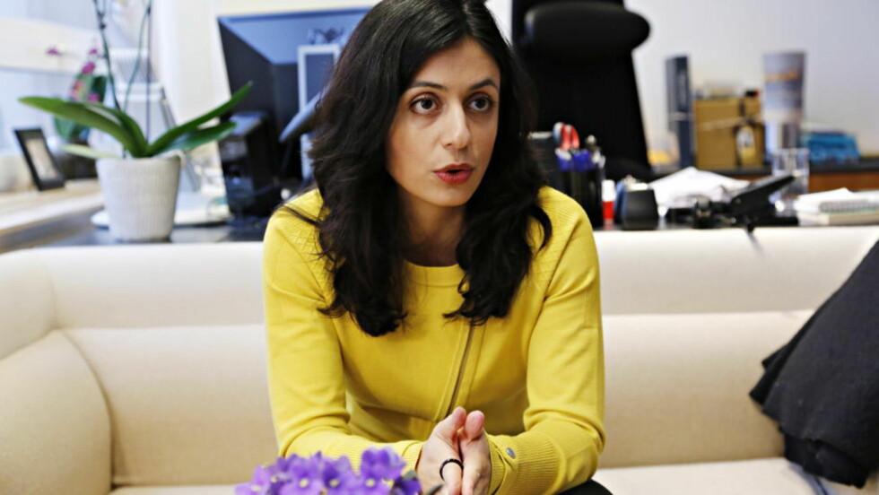 - UNDERLIG: Kulturminister Hadia Tajik mener Rotary-klubben og Norske Selskab taper på å ikke inkluderer kvinner. Foto: Jacques Hvistendahl / Dagbladet