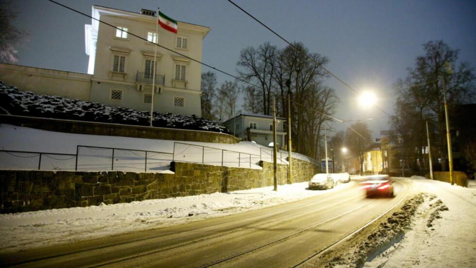 HOPPET AV: Den høytstående diplomaten jobbet ved Irans ambassade i Drammensveien 88 i en årrekke, fram til han hoppet av i desember.  Foto: Eirik Helland Urke