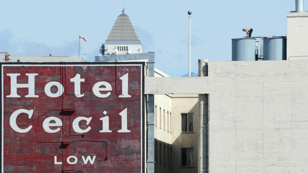 MYSTISK DØDSFALL: Elisa Lam ble funnet i en av vanntankene på taket på Cecil Hotel i Los Angeles. Foto: ROBYN BECK/AFP