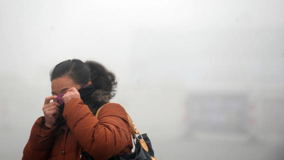 FORURENSET: Dette bildet ble tatt den 30. januar i Haozhou i Kina. Foto: AFP PHOTO/NTB SCANPIX