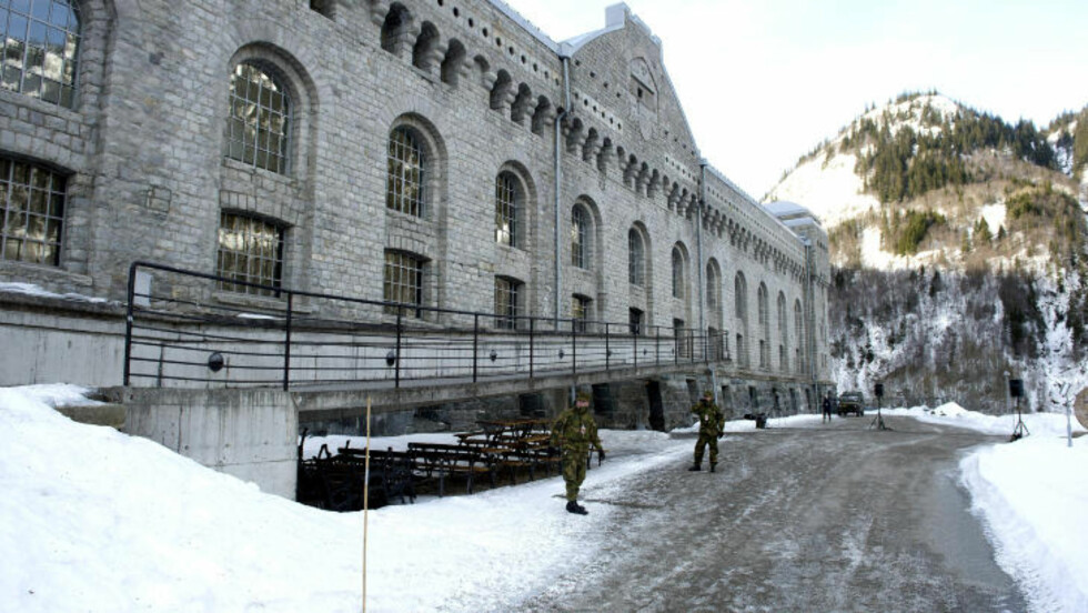 VAKTHOLD Soldater fra HV03 tok seg av vaktholdet under arrangementet. Foto: Øistein Norum Monsen/DAGBLADET.