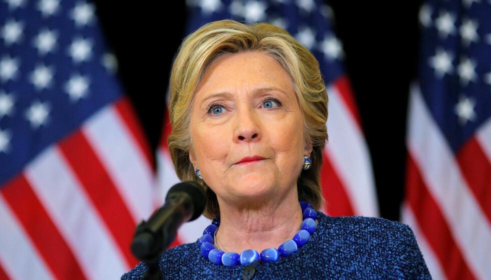 TAPTE: Hillary Clinton måtte til slutt se seg slått av Donald Trump, som natt til onsdag amerikansk tid ble valgt til USAs nye president. Foto: REUTERS / Brian Snyder      TPX IMAGES OF THE DAY