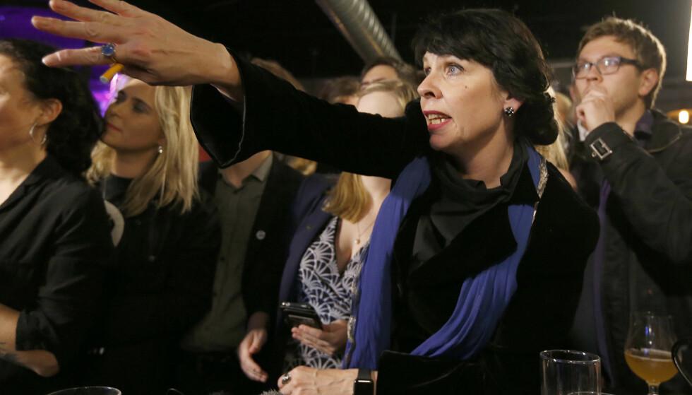 KAN TROLIG JUBLE: Birgitta Jónsdóttir og Piratpartiet ser ut til å få et brakvalg. Foto: AP Photo/Frank Augstein