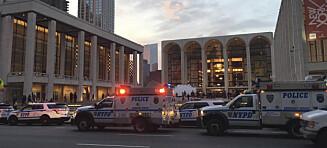 Opera i New York ble stoppet da asken fra et menneske ble drysset ned i orkestergraven