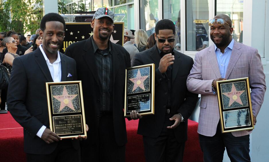 SPLITTET: Boyz II Men-stjerna Michael McCary forlot suksesgruppa i 2003. Nå forteller han årsaken til bruddet. Fra venstre: Shawn Stockman, Michael McCary, Nathan Morris og Wanya Morris. Foto: Stella Pictures