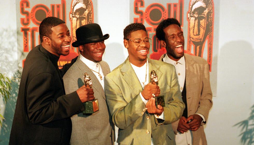 SUKSESS: Boyz II Men har mottatt flere priser. Fra venstre: Michael McCary, Wanya Morris, Nate Morris og Shawn Stockman. Foto: NTB Scanpix