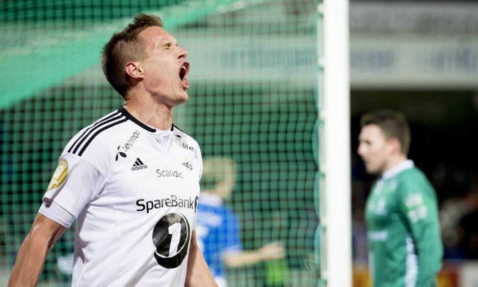 POENGSTOPP: Anders Konradsen og Rosenborgs seiersrekke har stoppet opp etter at seriegullet var innkassert. Nå ryker flere rekorder. oto: Jon Olav Nesvold / NTB scanpix