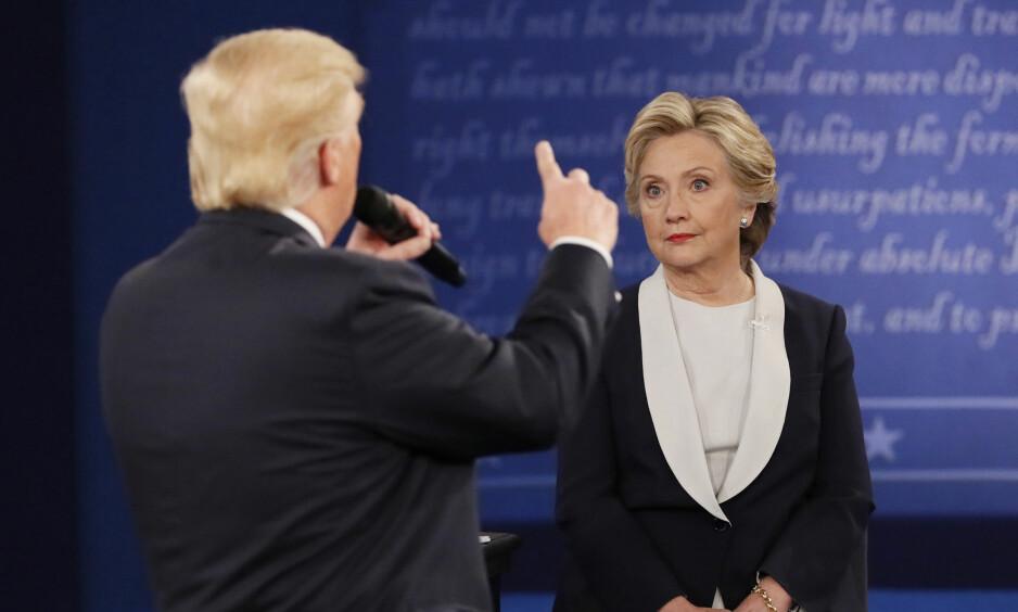 JEVNT: Trump har tatt igjen mye av Clintons forsprang. Foto: REUTERS / Shannon Stapleton   / NTB scanpix