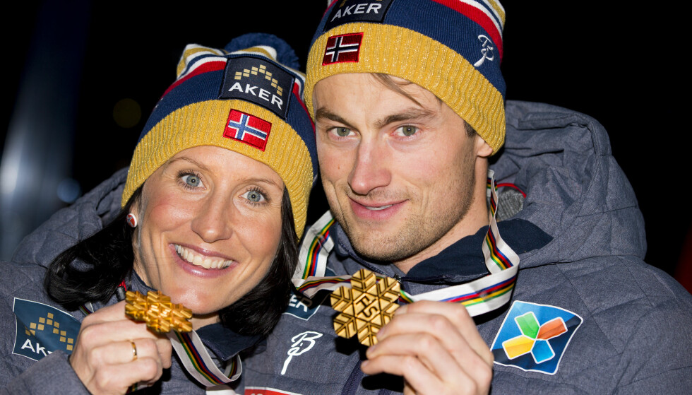 STJERNER: Marit Bjørgen og Petter Northug har bidratt med mye moro i skisporet. Nå legger Bjørgen opp. Spørsmålet er hva som skjer med Northug. Her fra Falun-VM i 2015. Foto: Vegard Wivestad Grøtt / NTB scanpix