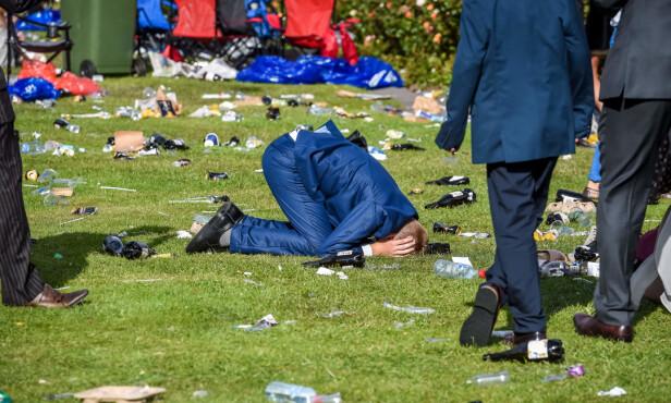 MELBOURNE CUP: Mann på gresset. Foto: Jake Nowakowski/Newspix/REX/Shutterstock