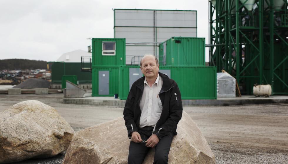 MARERITT: Den norske forretningsmannen Atle Berge på bedriften Ølen Betong i Murmansk. Han er nå utvist fra Russland. Foto: Andrea Gjestvang