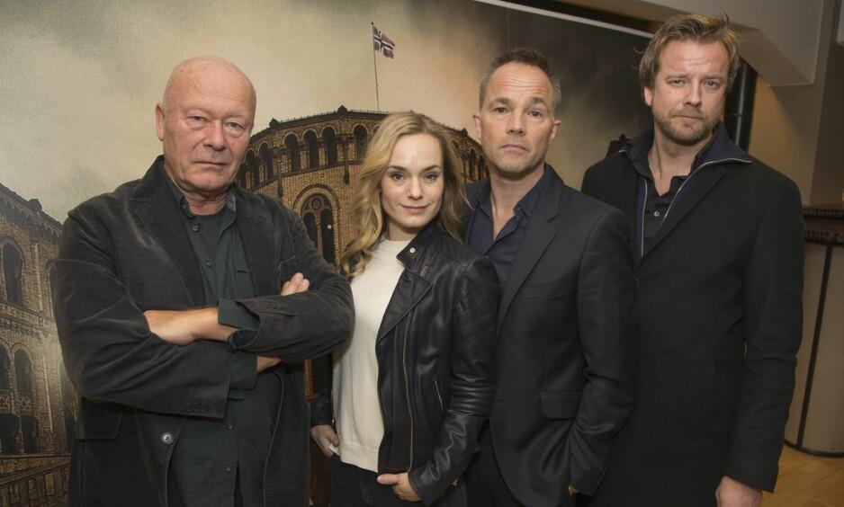 KRANGLER: «Mammon ll» fikk en Emmy-pris, men tv-serien er ikke tilgjengelig på grunn av uenighet mellom NRK og Norsk Filmforbund. Foto: NTB scanpix