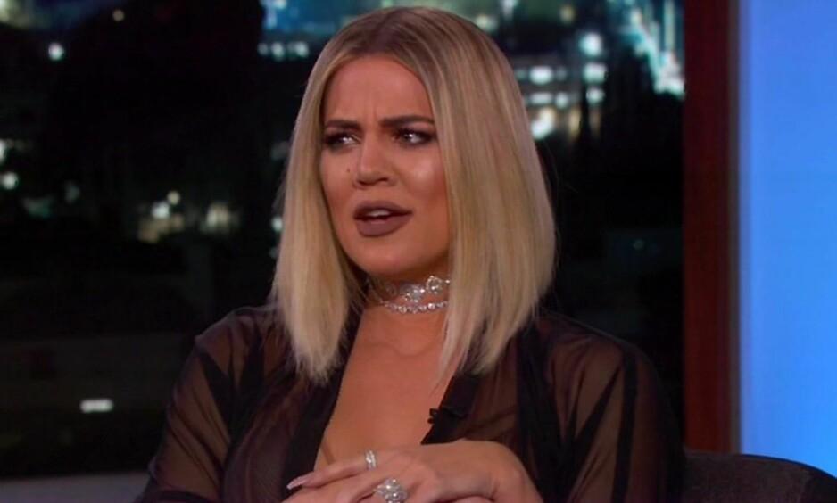 IKKE BLYG: Khloe Kardashian slår hardt tilbake i sosiale medier etter å ha blitt beskyldt for å bringe det amerikanske basketball-laget Cleveland Cavaliers ulykke. Foto: NTB Scanpix