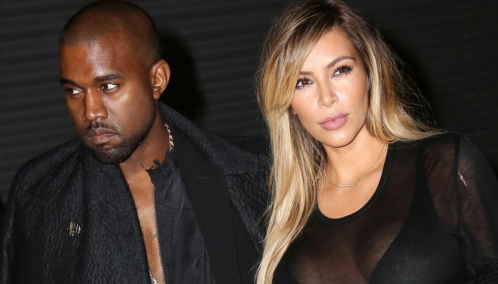 SKREVET UT: Kanye West har vært innlagt på sykehuset siden 22. november. Nå er han skrevet ut, etter å ha blitt behandlet for utmattelse. Her sammen med kona Kim Kardashian. Foto: NTB scanpix