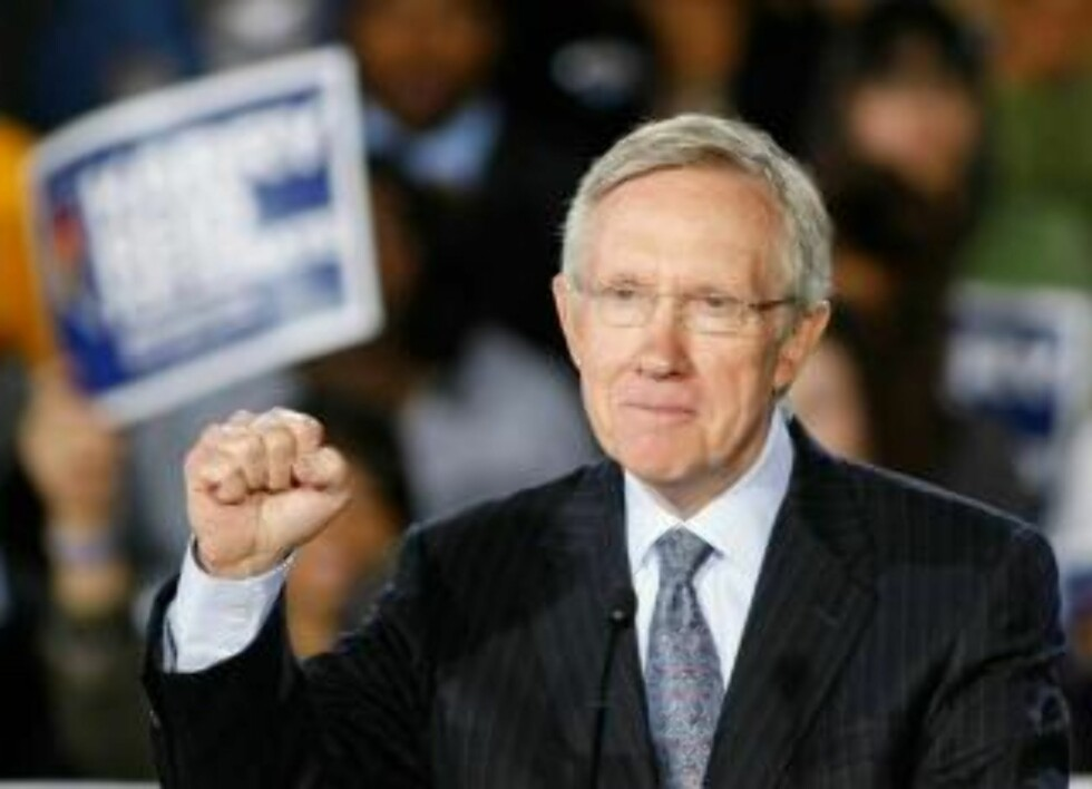KAMPKLAR:  - Jeg har sloss for Nevada hele livet, men vet dere, jeg er ikke ferdig med å slåss, sier senator Harry Reid. Foto: SCANPXI