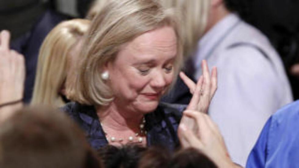FLINK PÅ NETT: Men Meg Whitman tapte valget i California. Foto: Reuters/Lucy Nicholson/Scanpix