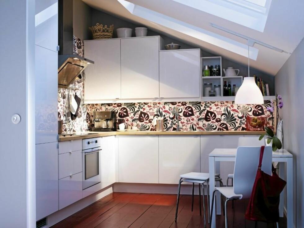 FLERFUNKSJONELT: Abstrakt kjøkkenskap kan brukes på mange måter og er interiørstylist Signe Schineller sin Ikea favoritt. FOTO: Produsent