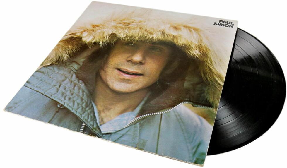 EVIGGRØNN: Paul Simon er, i likhet med så mange andre, aller best på vinyl. Dette eksemplaret tilhører tidligere Beezewax-vokalist Kenneth Ishak. Foto: KRISTIAN RIDDER-NIELSEN/Dagbladet