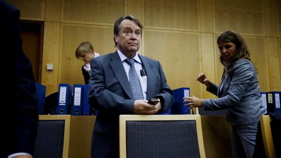 I boksen: I dag forklarer tiltalte Anders Talleraas seg for Oslo Tingrett.   Foto: Bjørn Langsem / Dagbladet.