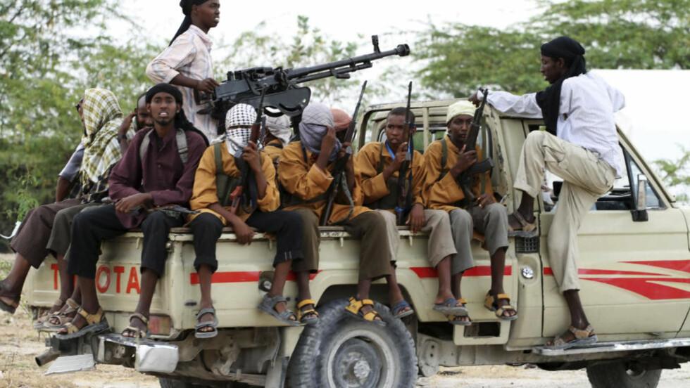 DREPER TENÅRINGSJENTER OG GAMLE DAMER: Somaliske Al-Shabaab står for mye av volden i Somalia. Foto: Reuters/Omar Faruk/Scanpix