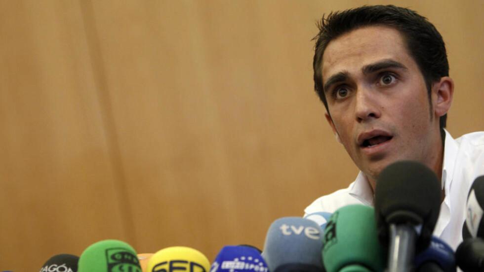 MÅ BEVISE USKYLD: WADA har testet gården og kuene som Alberto Contador mente ga ham clenbuterol i kroppen. De fant ingenting.Foto: SCANPIX/REUTERS/Sergio Perez