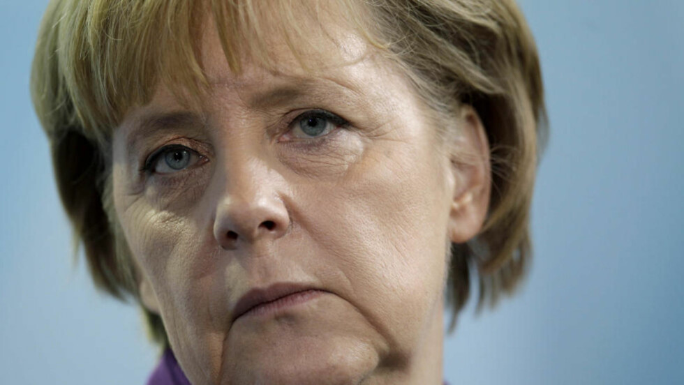 MØTER RUSSLANDS PRESIDENT: Tysklands statsminister Angela Merkel kaller samtalene med Russland på toppmøtet for et historisk vendepunkt. Foto: Scanpix