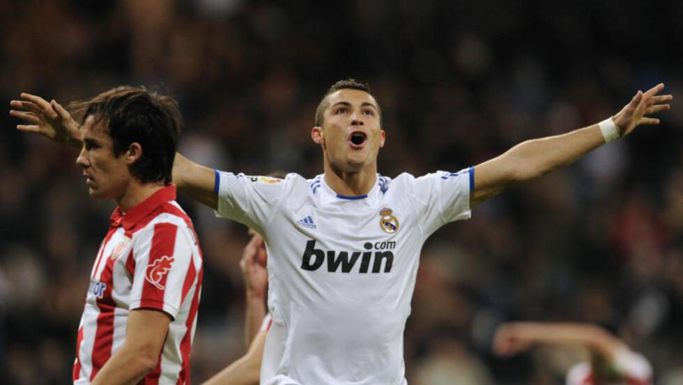 14 MÅL SÅ LANGT: Cristiano Ronaldo scoret tre i år, og er toppscorer i La Liga med 14 fulltreffere. Foto: JAVIER SORIANO/AFP