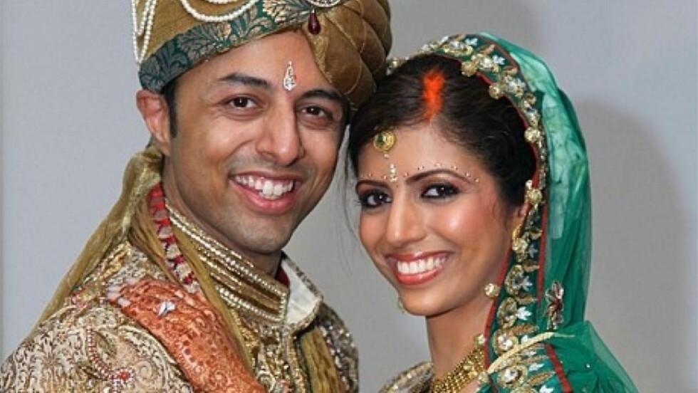 NYGIFT: Anni og Shrien Dewani giftet seg i India. På bryllupsreise i Sør-Afrika ble drosjen de satt i kapret og Anni drept. Shrien ble sluppet fri. Foto: Privat