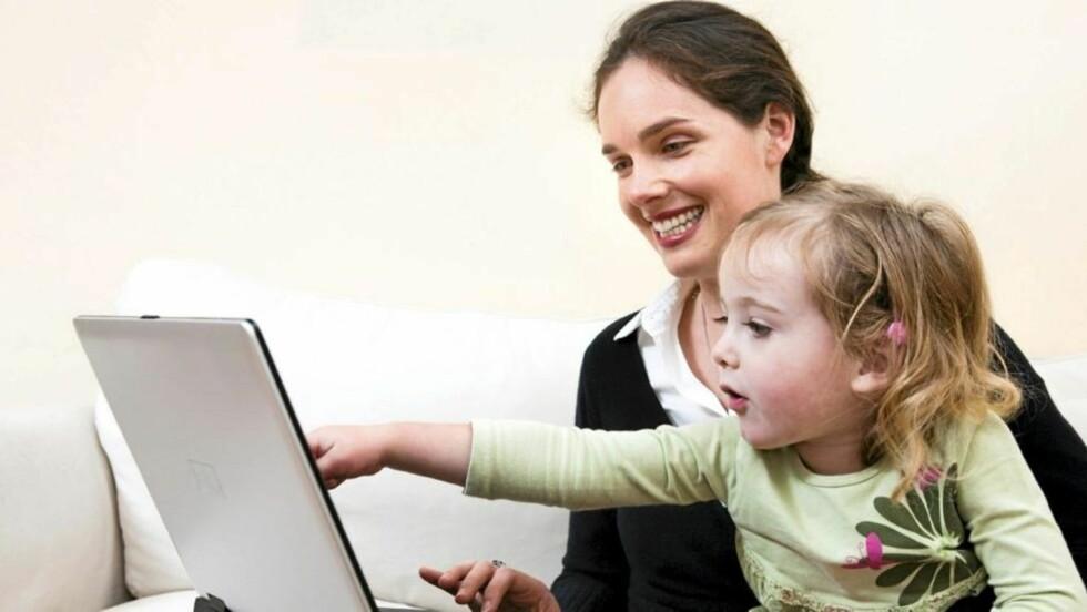 MAMMA PÅ NETT: Flere tusen mammaer blogger om livet sitt med verden som publikum. FOTO: iStock