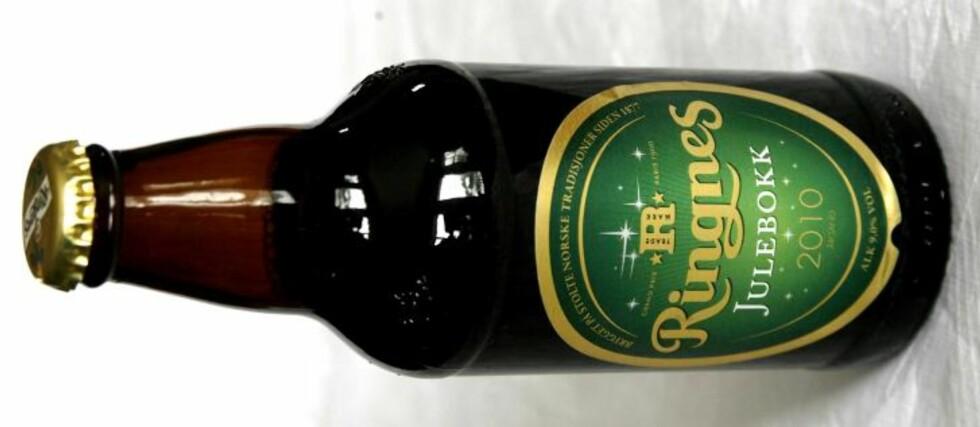 RINGNES JULEBOKK: Et flott norsk øl, mente det danske panelet, og ga det en sekser.