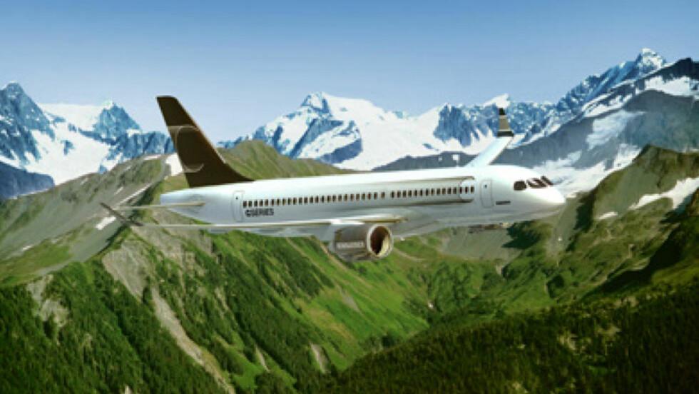 NY MODELL: CS-300 skal være SAS-ledelsens favoritt når selskapet de seks neste årene skal kjøpe 55 nye fly.