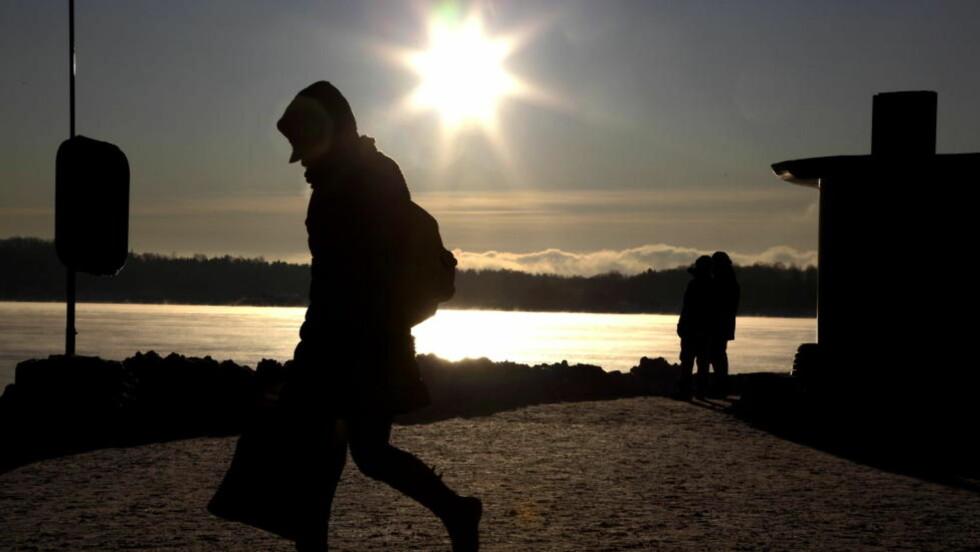 KLARVÆR OG FROSTRØYK:  Oslo kan få minimumstemperaturer ned mot minus 20 grader de to første døgnene. FOTO: HANS ARNE VEDLOG.