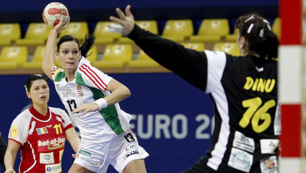 MISTER NYTT MESTERSKAP: Ungarske Anita Görbicz var skadd under VM i fjor og mister også vinterens EM. Foto: EPA