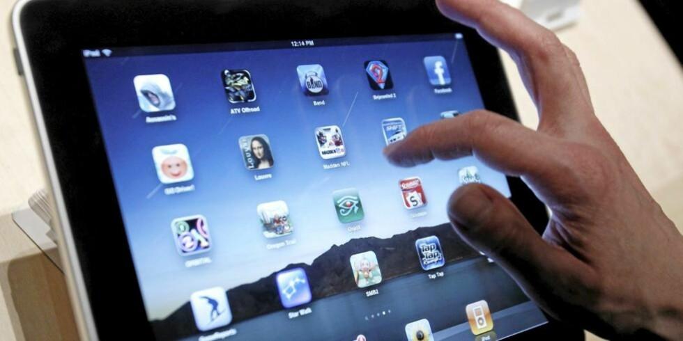 I SALG NÅ: iPad er omsider lansert i Norge. Her er appene du bør sjekke ut på din nye iPad. FOTO: Marcio Jose Sanchez, AP