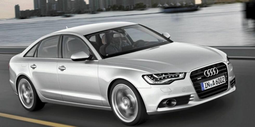 ELEGANT: Den nye A6 er en stor og elegant bil. Foto: Audi