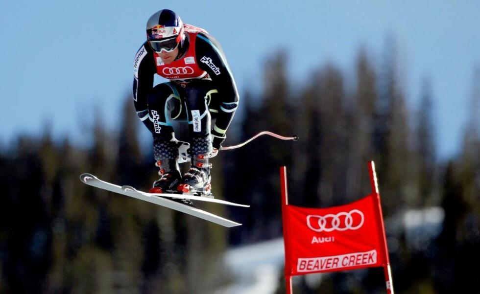 BEDRING: Aksel Lund Svindal gjennomførte et bedre super-G-løp enn i Lake Louise forrige helg, men for svak kjøring i midtpartiet kostet nordmannen en topplassering i Beaver Creek.Foto: SCANPIX/Matthew Stockman/Getty Images/AFP