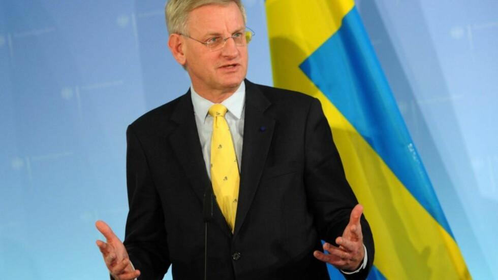 - BEGRENSEDE POLITISKE EVNER: Sveriges utenriksminister Carl Bildt er kunnskapsrik, men med begrensede politiske evner, mener amerikanske diplomater. Foto: SCANPIX