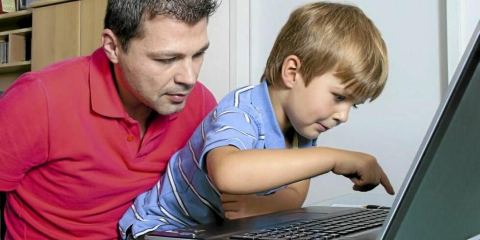 PAPPA PÅ NETT: Bloggpappaene er ikke like mange som bloggmammaene - ennå. ILLUSTRASJONSFOTO: www.colourbox.com