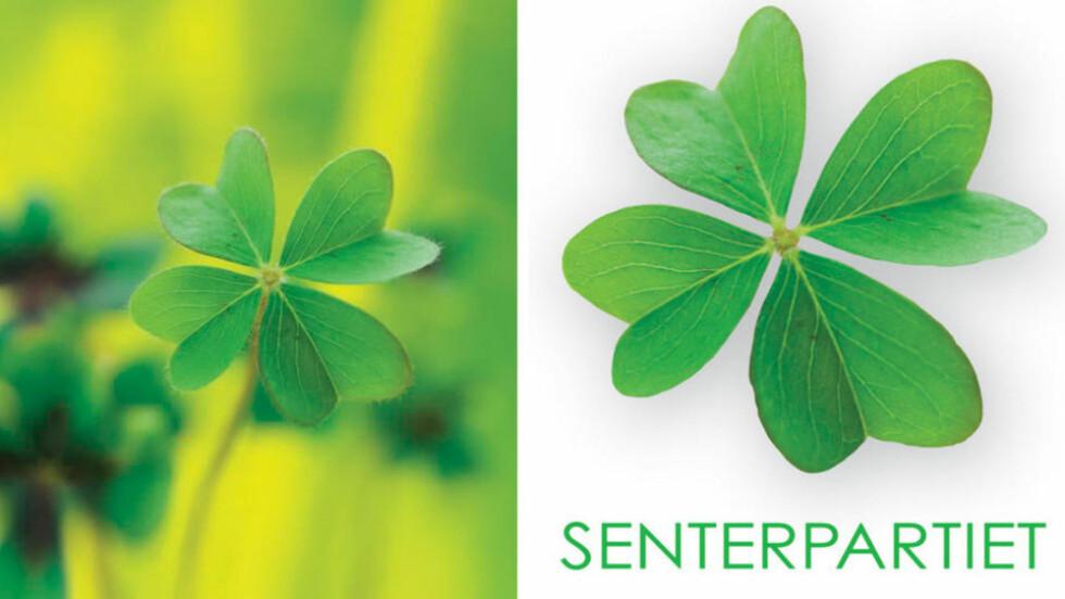 IDENTISKE: Senterpariet lanserte 6.desember sin nye logo som er en ekstakt kopi av et bilde som ligger på flere fildelingssider. Foto: Photobucket / Senterpariet