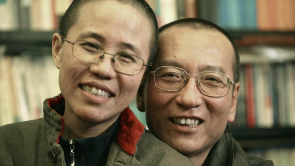 I HUSARREST: Liu Xiaobos kone, Liu Xia, har sittet i husarrest siden tildelingen ble kjent. Den siste måneden har hun ikke fått forlate sitt hjem eller benytte seg av telefon eller Internett. Foto: REUTERS/Scanpix