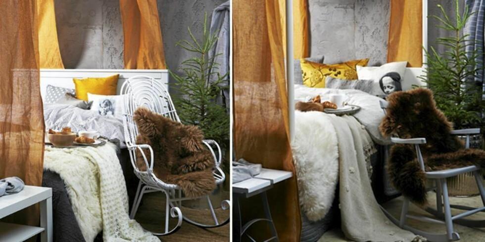 DYRT ELLER BILLIG: Her får du inspirasjon til soverommet. Kanskje vil du plukke litt av hvert rom. FOTO: Margaret M. de Lange