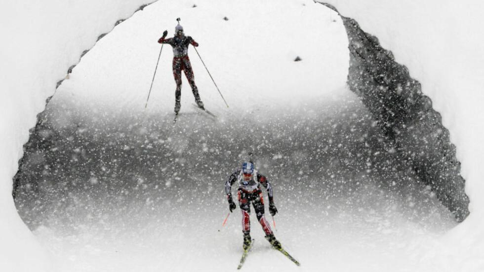 LYS I ENDEN AV TUNNELEN: Tora Berger gikk en strålende etappe for Norge, og sørget for tredjeplass på tabellen. Her fra sprinten.Foto: SCANPIX/REUTERS/Heinz-Peter Bader