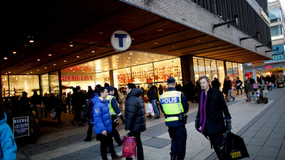 MULIG MÅL: T-banen i Stockholm kan ha vært terrormålet. Foto: Sveinung U. Ystad, Dagbladet